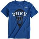 Duke Blue Devils Nike Youth Lacrosse Performance T-Shirt - Royal