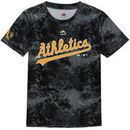 Oakland Athletics Majestic Youth Sublimated Cool Base T-Shirt - Charcoal
