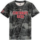 Cincinnati Reds Majestic Youth Sublimated Cool Base T-Shirt - Charcoal