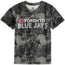Toronto Blue Jays Majestic Youth Sublimated Cool Base T-Shirt - Charcoal