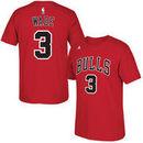 Dwyane Wade Chicago Bulls adidas Net Number T-Shirt - Red