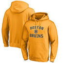 Boston Bruins Victory Arch Fleece Pullover Hoodie - Gold