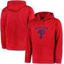Philadelphia Phillies Majestic Big & Tall Distressed Hoodie - Red