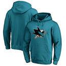 San Jose Sharks Fanatics Branded Primary Logo Pullover Hoodie - Teal