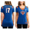Carmelo Anthony New York Knicks Majestic Women's Draft Him Jersey Top T-Shirt - Royal