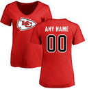 Kansas City Chiefs NFL Pro Line Women's Any Name & Number Logo Personalized T-Shirt - Red