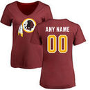 Washington Redskins NFL Pro Line Women's Any Name & Number Logo Personalized T-Shirt - Maroon