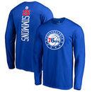 Ben Simmons Philadelphia 76ers Backer Name & Number Long Sleeve T-Shirt - Royal