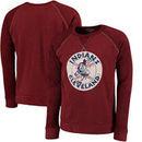 Cleveland Indians Majestic Threads Vintage Terry Crew Raglan Sweatshirt - Red