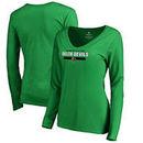 Mississippi Valley State Delta Devils Fanatics Branded Women's Team Strong Long Sleeve V-Neck T-Shirt - Kelly Green