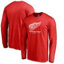 Detroit Red Wings Team Lockup Long Sleeve T-Shirt - Red