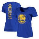 Kevin Durant Golden State Warriors Women's Backer Name & Number Scoop Neck T-Shirt - Royal