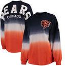 Chicago Bears NFL Pro Line by Fanatics Branded Women's Spirit Jersey Long Sleeve T-Shirt - Navy/Orange