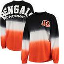 Cincinnati Bengals NFL Pro Line by Fanatics Branded Women's Spirit Jersey Long Sleeve T-Shirt - Black/Orange