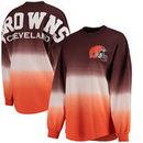 Cleveland Browns NFL Pro Line by Fanatics Branded Women's Spirit Jersey Long Sleeve T-Shirt - Brown/Orange