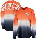Denver Broncos Pro Line by Fanatics Branded Women's Spirit Jersey Long Sleeve T-Shirt - Orange/Navy