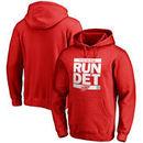 Men's Red Detroit Red Wings Run City Pullover Hoodie