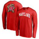 Maryland Terrapins Fanatics Branded Primetime Long Sleeve T-Shirt - Red