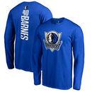 Harrison Barnes Dallas Mavericks Fanatics Branded Backer Name & Number Long Sleeve T-Shirt - Blue