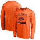 Oklahoma State Cowboys Fanatics Branded Campus Icon Long Sleeve T-Shirt - Orange