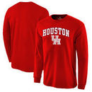 Houston Cougars Fanatics Branded Campus Long Sleeve T-Shirt - Red
