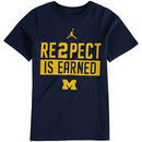 Michigan Wolverines Jordan Brand Youth Re2pect Fan T-Shirt - Navy