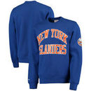 New York Islanders Mitchell & Ness Start of the Season Tailored Fit Crewneck Sweatshirt - Royal