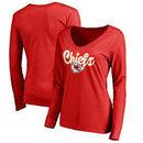 Kansas City Chiefs Women's Plus Sizes Freehand Long Sleeve T-Shirt - Red