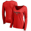Tampa Bay Buccaneers Women's Plus Sizes Freehand Long Sleeve T-Shirt - Red