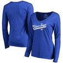 Toronto Blue Jays Women's Front Sweep Long Sleeve T-Shirt - Royal