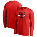 Chicago Bulls Fanatics Branded Big & Tall Primary Logo Long Sleeve T-Shirt - Red