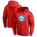 Philadelphia 76ers Fanatics Branded Primary Logo II Pullover Hoodie - Red