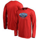 New Orleans Pelicans Fanatics Branded Youth Primary Logo Long Sleeve T-Shirt - Red