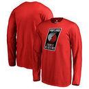Portland Trail Blazers Fanatics Branded Youth Primary Logo Long Sleeve T-Shirt - Red