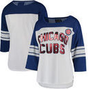 Chicago Cubs G-III 4Her by Carl Banks Women's First Team Three-Quarter Sleeve T-Shirt - White/Royal