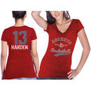 James Harden Houston Rockets Majestic Threads Women's Name & Number Tri-Blend T-Shirt - Red