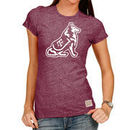 Texas A&M Aggies Original Retro Brand Women's Tri-Blend Crew Neck T-Shirt - Heathered Maroon