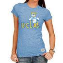 UCLA Bruins Original Retro Brand Women's Tri-Blend Crew Neck T-Shirt - Light Blue