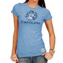 North Carolina Tar Heels Original Retro Brand Women's Tri-Blend Crew Neck T-Shirt - Light Blue