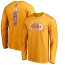 Brandon Ingram Los Angeles Lakers Fanatics Branded Backer Name & Number Long Sleeve T-Shirt - Gold