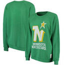 Minnesota North Stars Original Retro Brand Women's Vintage Tri-Blend Pullover Sweatshirt - Green