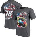 Kyle Busch Joe Gibbs Racing Team Collection M&M's Patriotic T-Shirt - Charcoal