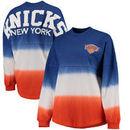 New York Knicks Fanatics Branded Women's Spirit Jersey Classic Long Sleeve T-Shirt - Blue/Orange