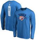 Russell Westbrook Oklahoma City Thunder Backer II Long Sleeve T-Shirt - Blue