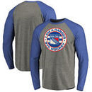 New York Rangers Hometown Collection I Am A Ranger Tri-Blend Raglan Long Sleeve T-Shirt - Ash/Royal