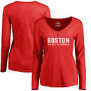 Boston University Women's Custom Sport Long Sleeve T-Shirt - Red