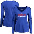 Louisiana Tech Bulldogs Women's Custom Sport Long Sleeve T-Shirt - Royal