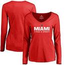 Miami University RedHawks Women's Custom Sport Long Sleeve T-Shirt - Red