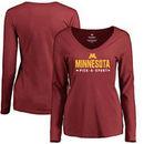 Minnesota Golden Gophers Women's Custom Sport Long Sleeve T-Shirt - Maroon