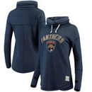Florida Panthers Original Retro Brand Women's Funnel Neck Fleece Pullover Sweatshirt - Navy